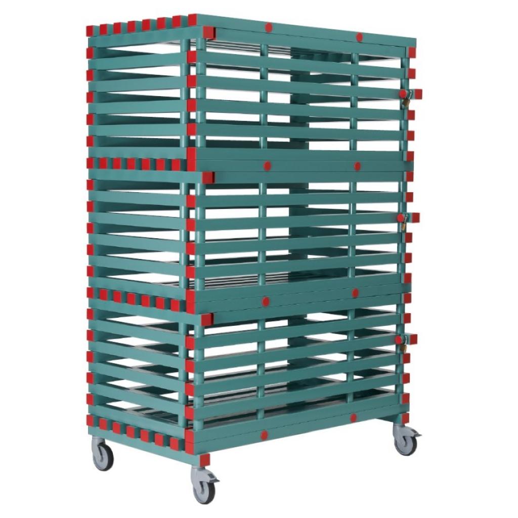 Buy Lockable Equipment Storage Rack 1380 X 820 X 2050mm